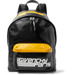 Givenchy Logo-Print Leather Backpack