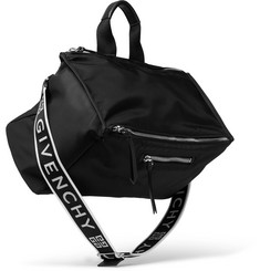 Givenchy Pandora Leather-Trimmed Shell Tote Bag