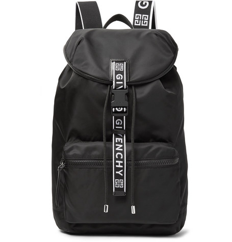 4cba3c5adaae Givenchy - Leather-Trimmed Nylon Backpack