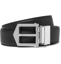 Givenchy Reversible Pebble-Grain Leather Belt