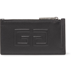 Givenchy - Embossed Full-Grain Leather Zipped Cardholder