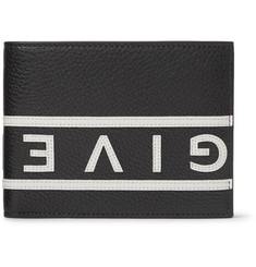Givenchy - Logo-Appliquéd Full-Grain Leather Billfold Wallet