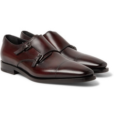 Berluti - Cap-Toe Polished-Leather Monk-Strap Shoes