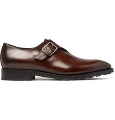 Berluti Leather Monk-Strap Shoes