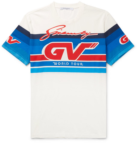 GIVENCHY Gv Racing Printed White T-Shirt