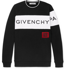 Givenchy - Logo-Embroidered Fleece-Back Cotton-Jersey Sweatshirt