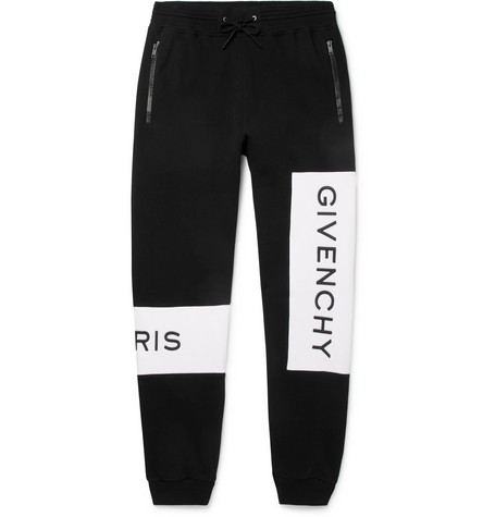 Tapered Logo Embroidered Loopback Cotton Jersey Sweatpants by Givenchy