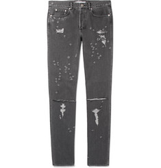 Givenchy Skinny-Fit Distressed Denim Jeans