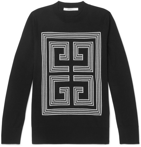Slim Fit Logo Intarsia Wool Sweater by Givenchy