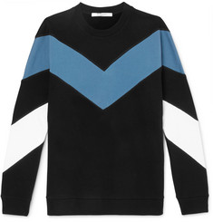 Givenchy - Chevron Fleece-Back Cotton-Jersey Sweatshirt