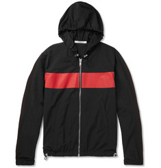 Givenchy Logo-Print Colour-Block Shell Hooded Jacket