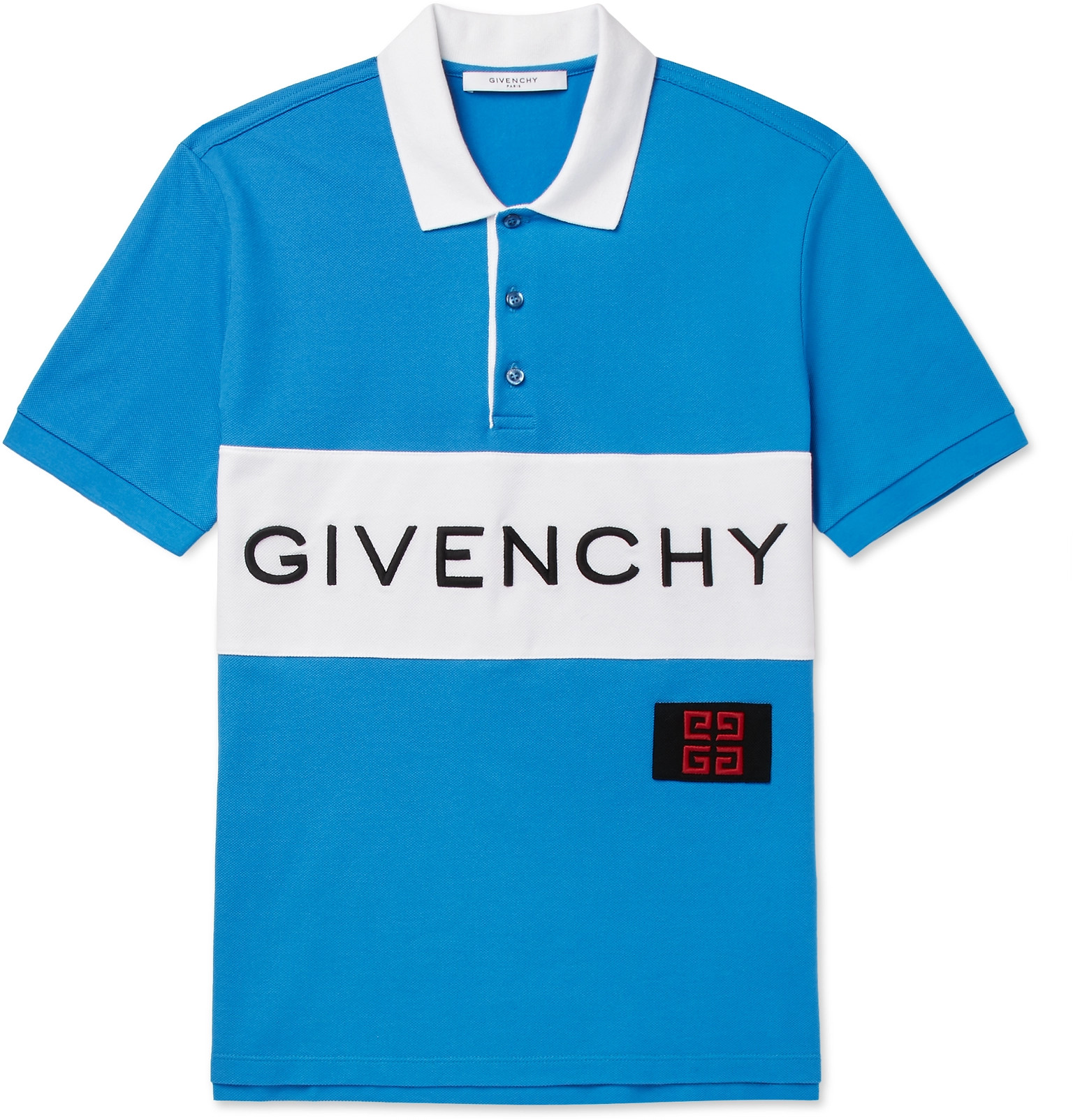 Givenchy - Slim-Fit Logo-Embroidered Cotton-Piqué Polo Shirt 7b44b9d78a10