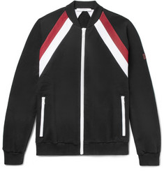 Givenchy - Slim-Fit Striped Fleece-Back Cotton-Jersey Bomber Jacket