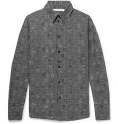 Givenchy Polka-Dot Cotton and Silk-Blend Shirt