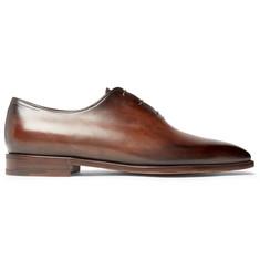 6cca71ddb98a2 Berluti Blake Whole-Cut Venezia Leather Oxford Shoes
