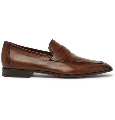 Berluti Men's Lorenzo Rimini Kangaroo Leather Loafer In Brown