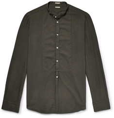 Massimo Alba - Vasells Grandad-Collar Poplin-Trimmed Modal and Cotton-Blend Twill Half-Placket Shirt