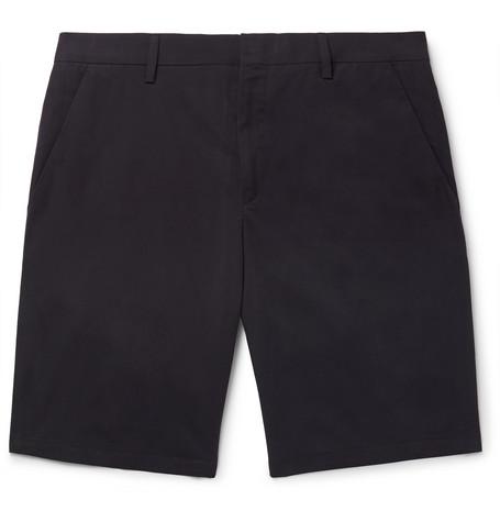 Slim-fit Cotton Shorts