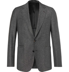 Paul Smith Dark-Grey Soho Slim-Fit Mélange Wool and Silk-Blend Suit Jacket