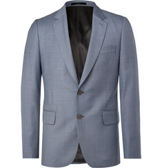 Paul Smith Blue Soho Slim-Fit Wool-Sharkskin Suit Jacket