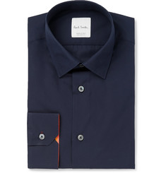 Paul Smith Navy Slim-Fit Cotton-Poplin Shirt