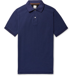 Paul Smith Slim-Fit Grosgrain-Trimmed Cotton-Piqué Polo Shirt