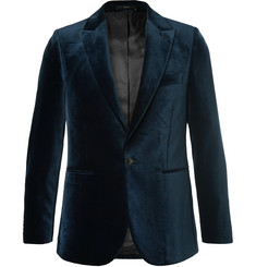 Paul Smith Midnight-Blue Velvet Tuxedo Jacket