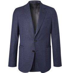 Paul Smith Blue Soho Slim-Fit Mélange Wool Blazer
