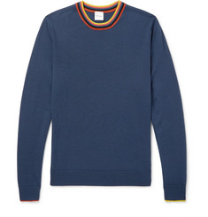 Paul Smith Stripe-Trimmed Wool Sweater