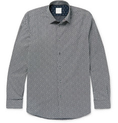 Paul Smith Soho Slim-Fit Cutaway-Collar Printed Cotton-Poplin Shirt