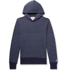 Todd Snyder + Champion - Striped Loopback Cotton-Jersey Hoodie