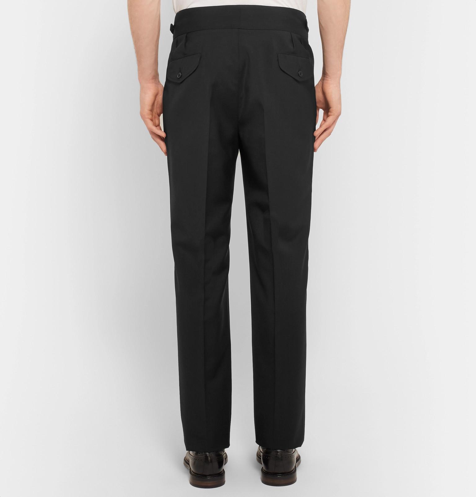 plisada pantalones mezcla de y virgen lana mohair de Rubinaccimanny vIxFwgqv
