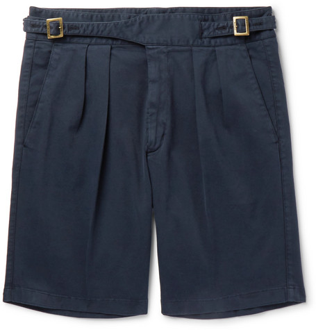 Manny Pleated Stretch-cotton Twill Shorts Rubinacci Fast Express Free Shipping Fashionable Affordable For Sale Shop For Online Outlet Store Online 8z6Wu