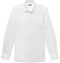 Rubinacci - Slim-Fit Cutaway-Collar Linen Shirt