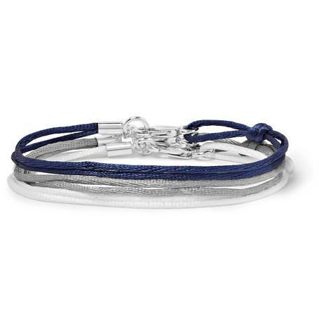 Set Of Three Silk Ribbon Bracelets by Rubinacci