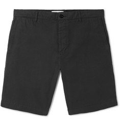 Mr P. - Garment-Dyed Cotton-Twill Bermuda Shorts
