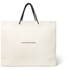 Balenciaga Printed Full-Grain Leather Tote Bag