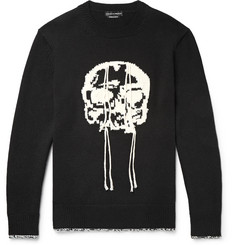 Alexander McQueen Slim-Fit Skull-Intarsia Wool Sweater