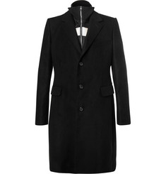 Alexander McQueen Moleskin Coat with Detachable Striped Satin Liner