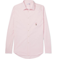 Alexander McQueen - Slim-Fit Embroidered Cotton-Poplin Shirt