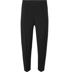 Alexander McQueen Tapered Striped Crepe Trousers