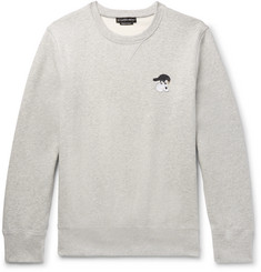 Alexander McQueen - Embroidered Mélange Fleece-Back Cotton-Blend Jersey Sweatshirt