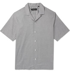 rag & bone Avery Camp-Collar Puppytooth Cotton Shirt