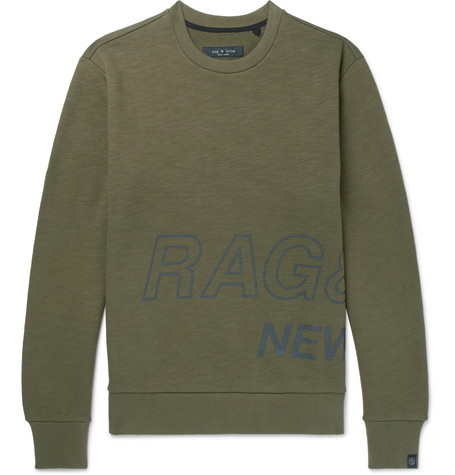 Jersey Logo Sweatshirt bone Print Cotton Loopback amp; rag EpOqxKYp