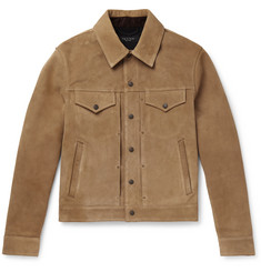 rag & bone - Suede Trucker Jacket