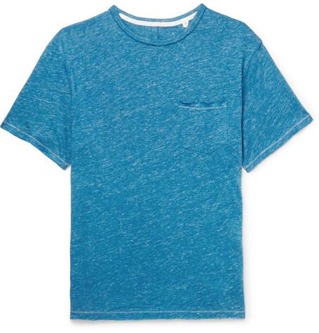 Owen Slub Linen-jersey T-shirt - Blue