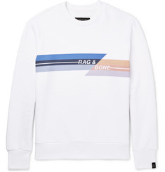 rag & bone Glitch Logo-Print Loopback Cotton-Jersey Sweatshirt
