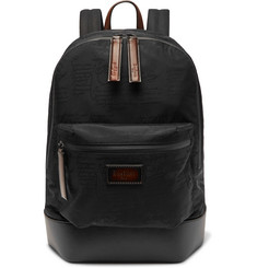Berluti - Volume Leather-Trimmed Jacquard Backpack