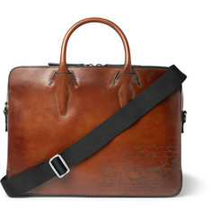 Berluti Profile Mini Scritto Leather Briefcase