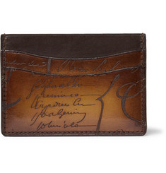 Berluti Bambou Embossed Leather Cardholder